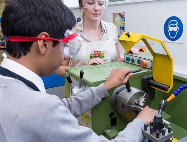 The use of specific machinery and equipment by students in school workshops