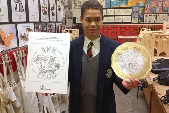 New pound coin designed by student in Design & Technology