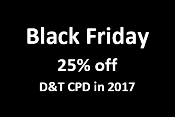 25% off Events on Black Friday and Cyber Monday