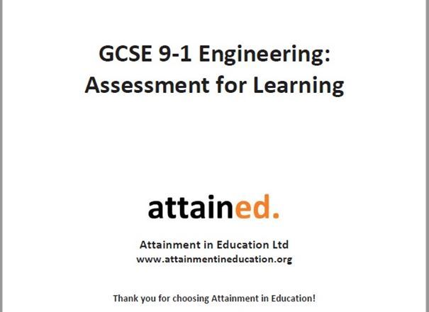 GCSE 9-1 Engineering Assessment for Learning Resource Pack (Written for the AQA Specification)