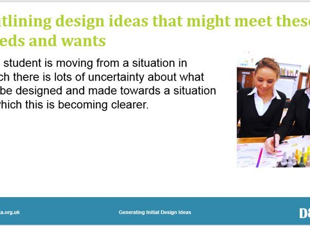 GCSE Key Resources: Generating initial design ideas