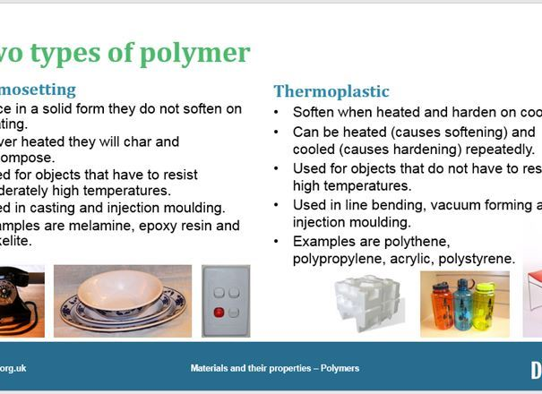 Materials and their properties - Polymers, GCSE classroom teaching resource