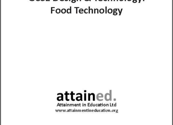 School help, food tech students only, for G.C.S.E AQA?