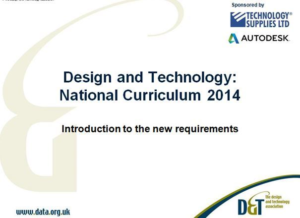 Introduction to the 2014 D&T National Curriculum KS1-3