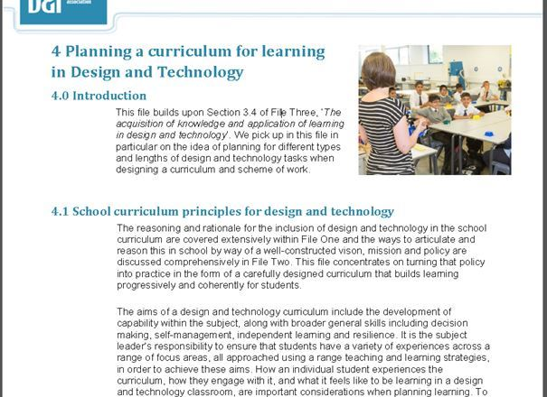 The Design and Technology Secondary Subject Leaders Files