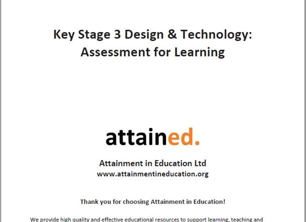Key Stage 3 Design & Technology and Engineering Assessment for Learning Resource Pack
