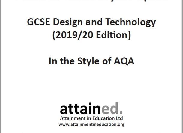 NEW Design and Technology (9-1) Practice Exam Papers (Written in the style of AQA) 2019/20 Edition