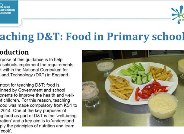 Primary D&T Food Guidance
