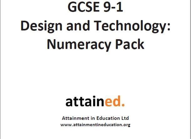 NEW GCSE Design and Technology (9-1) Numeracy Pack (written for all GCSE D&T specifications)