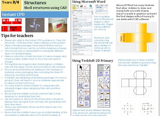 Projects on a Page Structures planners