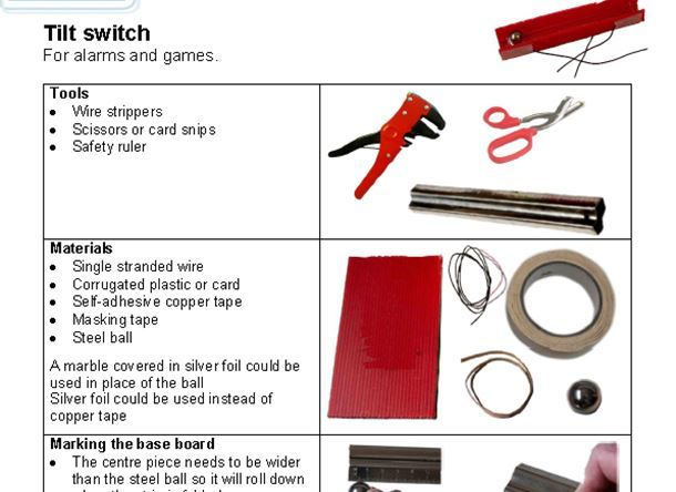 Hand-made switches helpsheet