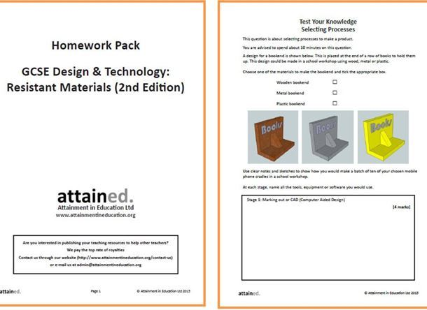 gcse resistant materials coursework aqa Qualification update our gcse design and technology provision has been redeveloped for first teaching in september 2017 the new qualification develops thinking skills leading towards invention and design innovation, to design and make prototypes that solve real and relevant problems.