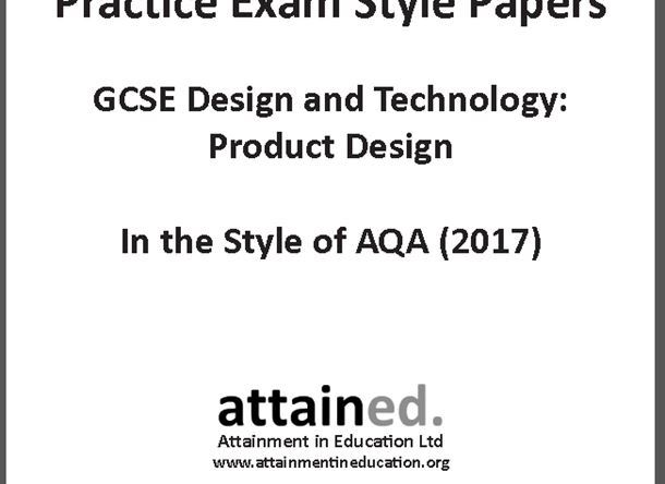 GCSE Design and Technology (9-1) Practice Exam Papers